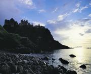 Antrim Framed Prints - Dunluce Castle, Co Antrim, Ireland Framed Print by The Irish Image Collection