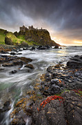 Dunce Framed Prints - Dunluce Castle Framed Print by Stephen Emerson