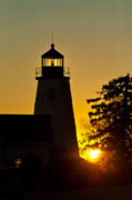 Maine Lighthouses Photo Posters - Dyce Head Lighthouse Poster by John Greim