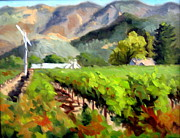 Grapevines Painting Originals - Early Fall by Char Wood