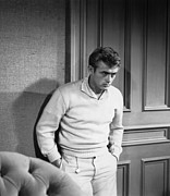 1950s Portraits Framed Prints - East Of Eden, James Dean, 1955 Framed Print by Everett