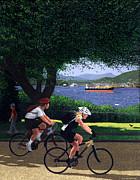East Van Bike Ride Print by Neil Woodward