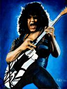 Van Halen Metal Prints - Eddie in Action Metal Print by Al  Molina