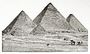 North African Posters - Egypt: Pyramids At Giza Poster by Granger
