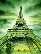 The Eiffel Tower Prints - Eiffel Tower Paris France Print by Irina Sztukowski