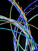 Wiring Framed Prints - Electrical Wires Framed Print by Tek Image