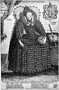 Ball Gown Metal Prints - Elizabeth I (1533-1603) Metal Print by Granger
