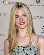 Hair Accessory Metal Prints - Elle Fanning At Arrivals For The Metal Print by Everett