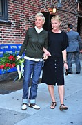 Paparazziec Photo Prints - Ellen Degeneres, Portia De Rossi Print by Everett