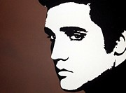 Monotone Paintings - Elvis by Dan Carman