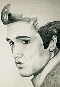 Elvis Presley Drawings - Elvis by Mikayla Henderson