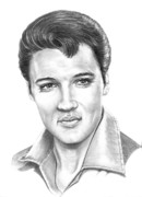 Elvis Drawings - Elvis Presley by Murphy Elliott
