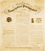 Emancipation Metal Prints - Emancipation Proclamation Metal Print by Photo Researchers