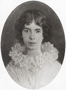 Famous Literature Prints - Emily Dickinson, American Poet Print by Photo Researchers