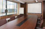 Whiteboard Art - Empty Conference Room by Jaak Nilson
