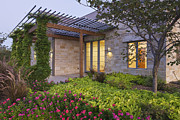 Landscaped Prints - Energy Efficient Home Exterior Print by Jeremy Woodhouse
