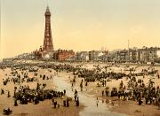 Puddle Prints - ENGLAND: BLACKPOOL, c1900 Print by Granger