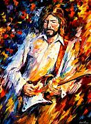 Afremov Framed Prints - Eric Clapton Framed Print by Leonid Afremov
