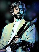 Blues Posters - Eric Clapton Poster by Paul Sachtleben