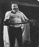 Boxer Metal Prints - Ernest Hemingway Metal Print by Granger