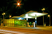 Tallinn Posters - Estonian Gas Station at Night Poster by Jaak Nilson