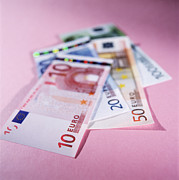 Value Prints - Euro Bank Notes Print by Tek Image