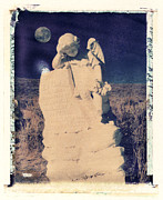 Polaroid Transfer Prints - Evelyn and Moon Print by Joe  Palermo