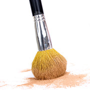 Single Object Art - Face powder and make-up brush by Bernard Jaubert