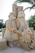 Goldilocks Posters - Fairytale Sand Sculpture  Poster by Shay Velich