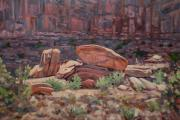 Landscape Prints Prints - Fallen Rock Print by Donald Maier