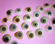 Custom Made Prints - False Eyes Print by Lawrence Lawrynational Artificial Eye Service