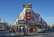 Phila Framed Prints - Famous Genos Steaks Framed Print by John Greim