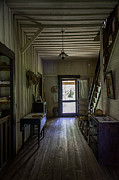 Wood Plank Flooring Prints - Farmhouse Entry Hall and Stairs Print by Lynn Palmer
