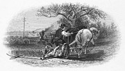 Mower Prints - FARMING, c1870 Print by Granger