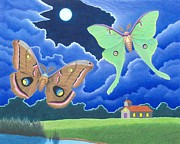 Luna Moth Drawings - Favorite Giants by Paul Hadfield