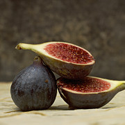Sliced Prints - Figs Print by Bernard Jaubert
