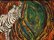 Zebra Paintings - Fingerprints of Life by Isaac Mullens