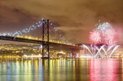 Finale Prints - Fireworks at New Years Eve in Lisbon Print by Andre Goncalves