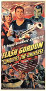 1940s Movies Photo Posters - Flash Gordon Conquers The Universe Poster by Everett