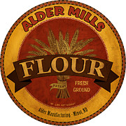 Flour Digital Art Framed Prints - Flour Barrel Label Framed Print by John OBrien