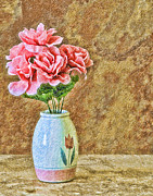 Antiquated Digital Art Posters - Flowers in Crayon Poster by Ed Churchill