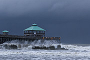Folly Beach Posters - Folly Pier Poster by Drew Castelhano