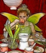 Fondue Posters - Fondue Fairy Tea Princess Poster by Rich Beer