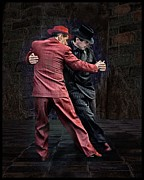 Argentina Posters - For Men Only - Tango Series Poster by Raul Villalba
