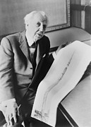 Drawings Photos - Frank Lloyd Wright 1867-1959, American by Everett