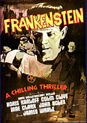 1930s Movies Posters - Frankenstein, Boris Karloff, 1931 Poster by Everett