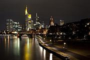 Commerce Posters - Frankfurt by Night Poster by Francesco Emanuele Carucci