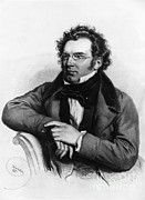 Schubert Framed Prints - Franz Peter Schubert, Austrian Composer Framed Print by Omikron