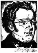 Pianist Framed Prints - Franz Schubert (1797-1828) Framed Print by Granger
