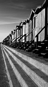 Frinton On Sea Beach Huts Print by Darren Burroughs